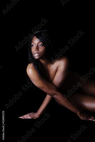 Nude women doing yoga-5577