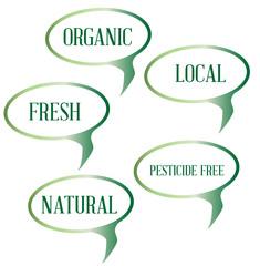 Organic Speech Bubbles