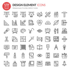 Design Element Icons , Thin Line and Pixel Perfect Icons