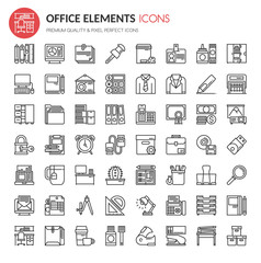 Office Element Icons , Thin Line and Pixel Perfect Icons