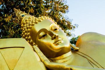 Buddha statue in wat u-mong Lumphun province Thailand