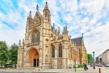 Keuken foto achterwand Brussel BRUSSELS, BELGIUM - JULY 07, 2016 : Notre Dame du Sablon's Cathe