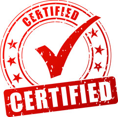 certified red stamp