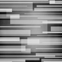 abstract black gray and white background, thick and thin horizontal white lines on monochrome black and white color background in abstract block pattern, silver and white boxes on black background