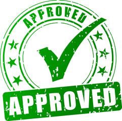 Fototapeta approved green stamp