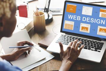 Web Design Work Website Development Concept
