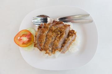 Fried Pork on Rice