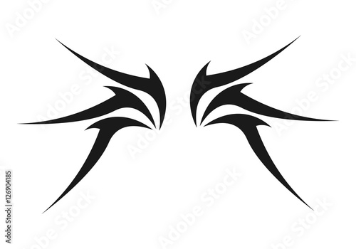 """Stock Illustration Volleyball Tribal Abstract Vector: """"Abstract Tribal Wing"""" Stock Image And Royalty-free Vector"""