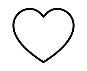Thin line heart / romantic love line art icon for dating apps and websites