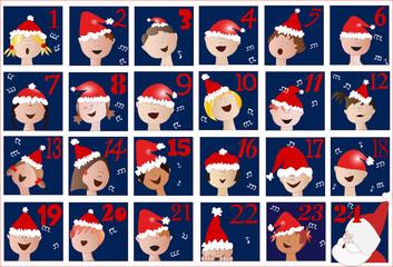 calendario di Avvento con coro di bambini