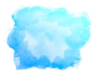Abstract watercolor on white background.This is watercolor splash.It is drawn by hand.