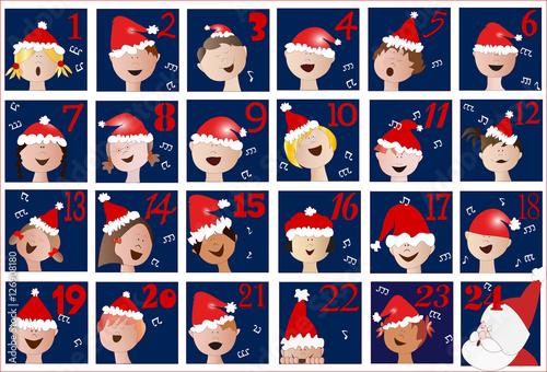 Calendario Di Avvento Per Bambini.Calendario Di Avvento Con Coro Di Bambini Stock Image And