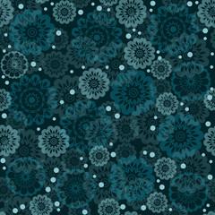 Geometric seamless floral pattern
