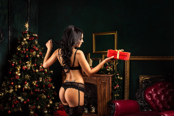 Sexy girl in lingerie underwear