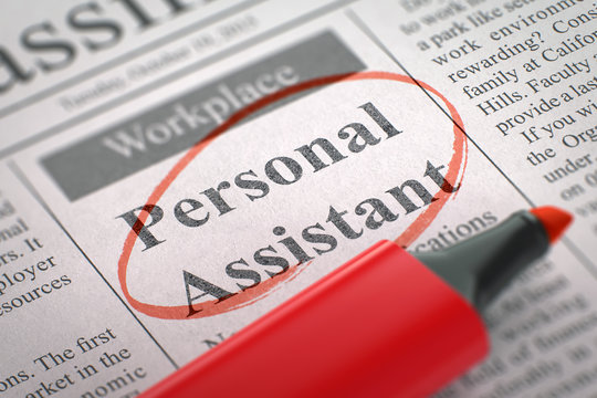 Now Hiring Personal Assistant. 3D.
