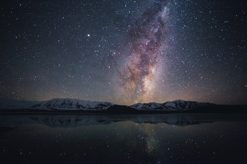 Milky way at Lake Tekapo, South Island, New Zealand