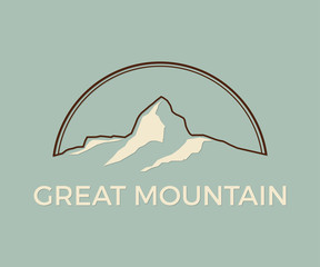 Mountain and Outdoor Adventure Logo, Tourism and Travel Vector