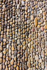Wall background with small stones