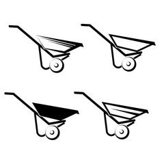 Wheelbarrow Icon on white background