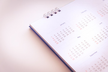 Blurred calendar page in pink  tone