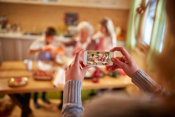Christmas time family- mobile photographing  .