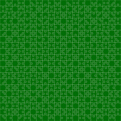 400 Green Puzzles. Vector Illustration.