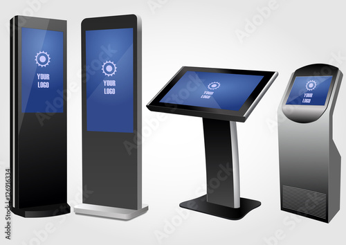 Set of Promotional Interactive Information Kiosk, Advertising