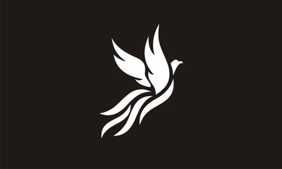 Phoenix logo template, Fire-bird, Eagle