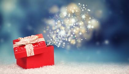 Weihnachtsüberraschung - leuchtendes Weihnachtsgeschenk