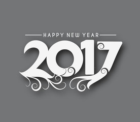 Happy new year 2017 - New Year Holiday design elements for holiday cards, for decorations Vector Illustration background