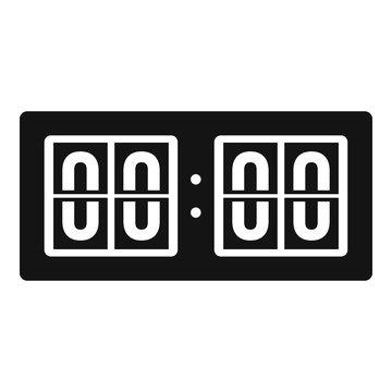 Scoreboard icon. Simple illustration of scoreboard vector icon for web