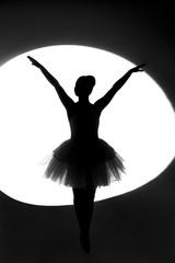 Silhouette of a ballet dancer, ballerina