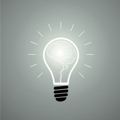 Vector graphics of light bulbs.
