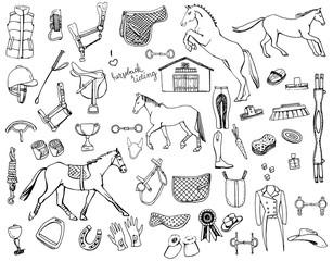 horse back doodles