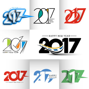 Happy new year 2017 - New Year Holiday Design Elements