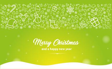 Grußkarten Motiv für Weihnachten und Neujahr
