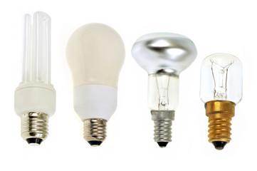 Ampoules électriques de différents modèles