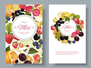 Fruit and berry banners