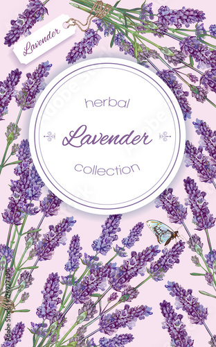 Lavender Natural Cosmetics Vertical Banner On Lilac