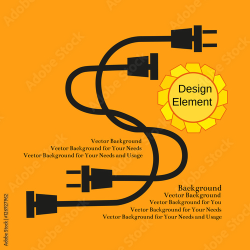 Creative Typography Poster Concept Of Unplugged Electric Wire Plugs And Sockets Flat Design Idea