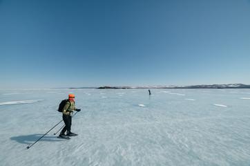 Norwegian hiking skates.