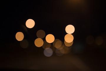 Golden light bokeh