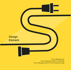 Creative Typography Poster Concept of Unplugged electric plug and socket. Flat design. Idea for  template  flyer, banner, poster, sticker, web icon. Vector Illustration.