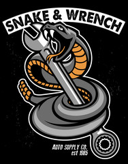 snake with hold the wrench