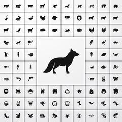 fox icon illustration