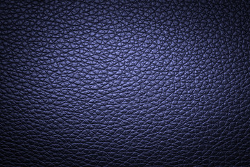 Blue leather texture or leather background. Leather sheet for making leather bag, leather jacket, furniture and other. Abstract leather pattern for design with copy space for text or image.