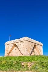 Verteidigungsturm an der Küste von Mallorca
