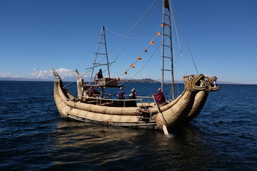Bateau du lac Titicaca, Bolivie