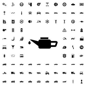 machine oil icon illustration