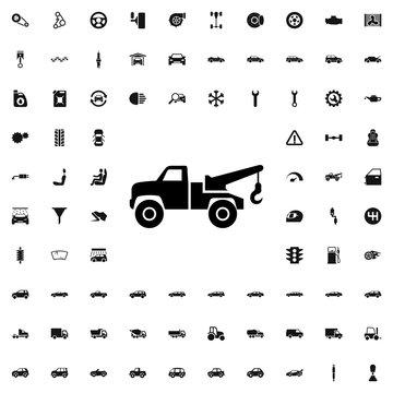 trailer truck icon illustration